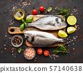 Fresh fish dorado 57140638