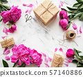 Background with pink peonies 57140886