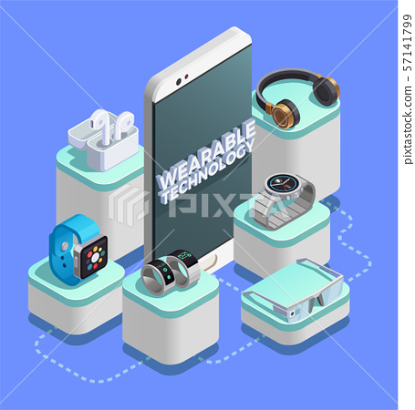 Wearable Technology Isometric Composition  57141799