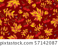 Autumn seamless pattern with leaf background. 57142087