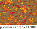 vector floral seamless pattern with autumn leaves 57142089