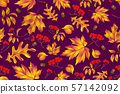 Autumn seamless pattern with leaf background. 57142092