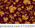Autumn seamless pattern with leaf background. 57142094