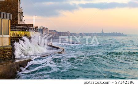 High tide in Saint-Malo 57142396