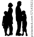 Divorced separated parents with sad separated kids 57143021