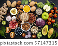 Ingredients for the healthy foods selection. The 57147315
