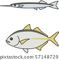 กั้งและปลาทู 57148729