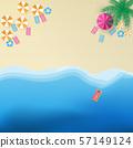 Beach vector illustration top view. 57149124