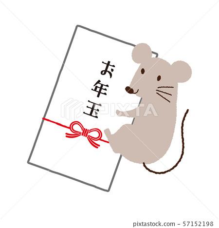 新年的卡片和老鼠例證 57152198