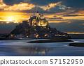 Mont Saint Michel at sunset, France 57152959