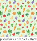 ลวดลายผักผลไม้ 57153620
