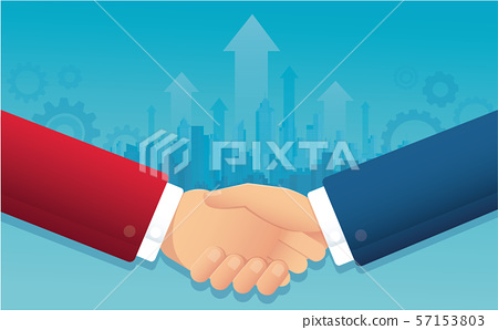 business handshake for successful. partnership concept vector illustration EPS10 57153803