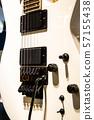 Electric guitar close up 57155438