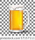 Glass with splashing beer template 57157111
