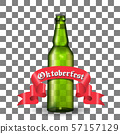 Template of green beer bottle 57157129