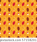 seamless pattern with oak leaves 57158201