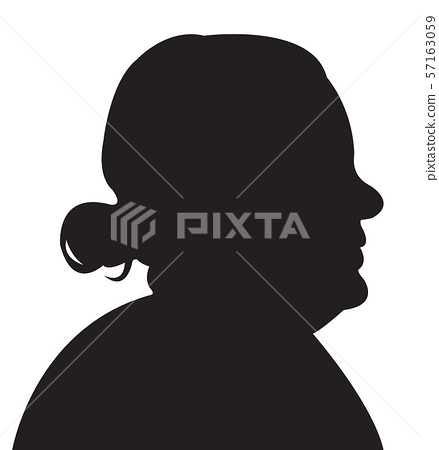 a woman head silhouette vector 57163059