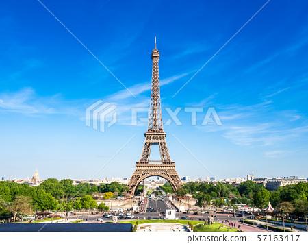 世界遺產巴黎塞納河埃菲爾鐵塔 57163417