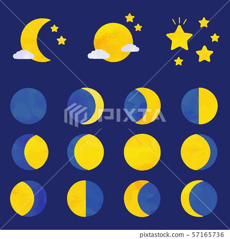月相(矢量版本) 57165736