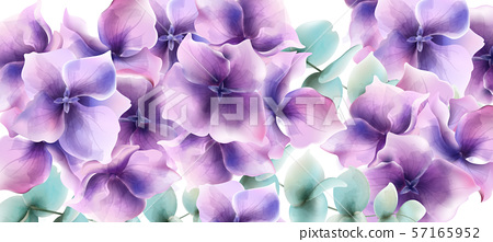 Lily flowers card background Vector watercolor. 57165952