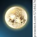 Full moon shiny night background Vector. Dark blue 57166276