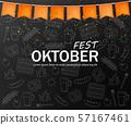 October fest welcome poster Vector realistic. Dark 57167461