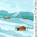 Countryside winter nature Vector flat styles 57167661