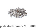 screws on isolated white background 57168089