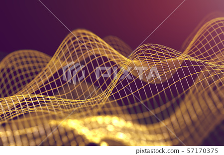 Mesh or net with lines and geometrics shapes 57170375