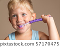 boy, brushing, child 57170475