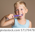 boy, brushing, child 57170478