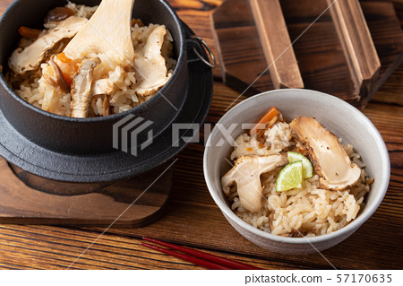 traditional jaopanese autumn food, rice with 57170635