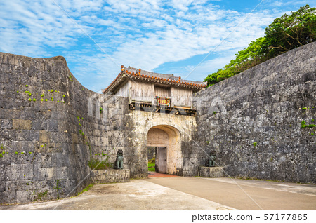 The first main gate of Shuri castle which the king 57177885