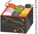 New Year dishes image illustration 57180394