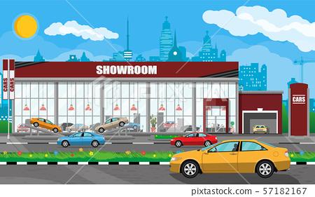 Exhibition pavilion, car dealership 57182167