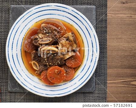 한국의 음식 소고기 갈비찜 57182691