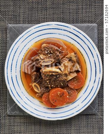 한국의 음식 소고기 갈비찜 57182694