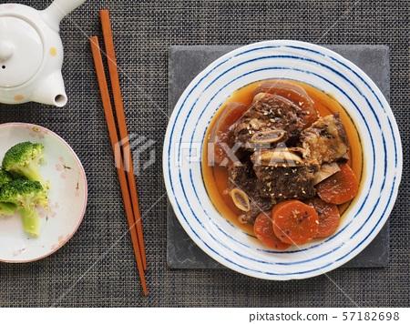 한국의 음식 소고기 갈비찜 57182698