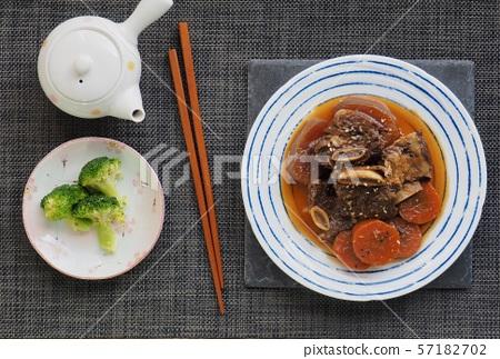 한국의 음식 소고기 갈비찜 57182702
