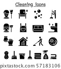 Cleaning house & Hygiene icon set 57183106