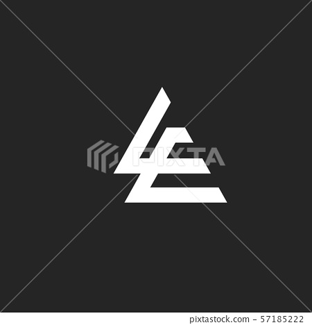 L and E letter with monogram sport style Business design template logo icon 57185222