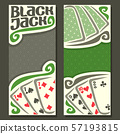 Vector banners for Black Jack 57193815