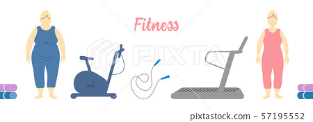 Healthy lifestyle Time to fitness. Slimming. 57195552