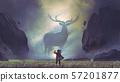 man encountering the legendary deer 57201877