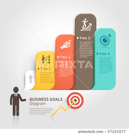 Business goals with speech bubble. Vector 57203877