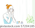 护肤女人背景 57204185