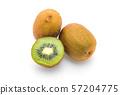 fresh kiwi on white 57204775