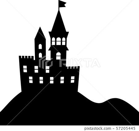 中世紀歐洲城堡剪影 57205445
