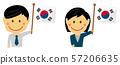인종과 국기 / 비지니스 맨 · 남녀 직장인 상반신 일러스트 / 대한민국 57206635