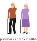 Dizziness and fainting senior icon. Medical sign 57206868